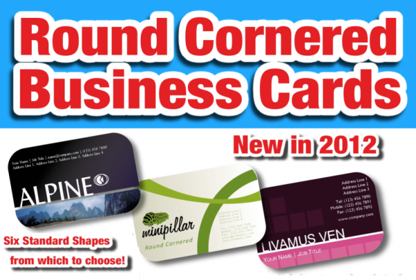 Round Cornered Business Cards - New for 2012